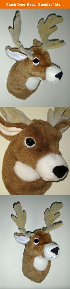 """Plush Deer Head """"Buckley"""" Medium Shoulder Mount. Buckley is a white tailed deer. He's amazingly soft and sculpted in an alert upright pose. His head is turned slightly to his left. He has a 12 point rack of antlers, but he's a medium size so that he looks comfortable hanging almost anywhere. If you want to pair him with another mount, Leon, Ursa, or Tatanka would be perfect companions for him. PRODUCT SPECS: Depth is 13"""" from nose to wall. 12""""w x 14""""h. Girth is 24"""". Adjustable antlers…"""