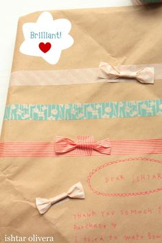 Washi tape bows ! packaging for gift for every one attending conference