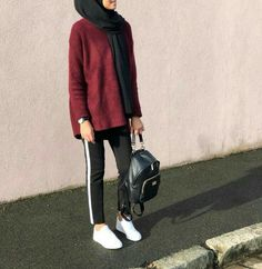 MORE PICTS You can also see more ideas about girly outfits with jeans , girly outfits teenage , girly outfits for boys , girly outfits korea. Hijab Casual, Hijab Chic, Ootd Hijab, Modern Hijab Fashion, Hijab Fashion Inspiration, Muslim Fashion, Trendy Fashion, Style Inspiration, Trendy Style
