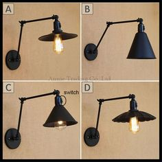 Edison Loft Industrial Wall Lamp Vintage Home Lighting Swing Long Arm Wall Light Fixtures Sconce Appliques Pared Wandlamp Cheap Wall Lights, Ceiling Lights, Bedroom Reading Lights, Wall Light With Switch, Luminaire Applique, Wall Light Fixtures, Led Wall Lamp, Lampe Led, Home Lighting