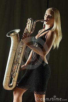 Im not a fan of the pose, but I know I want something with my bari sax <3