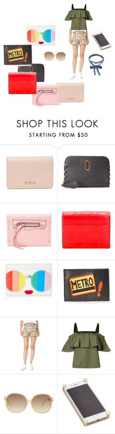 """Card Case..**"" by yagna ❤ liked on Polyvore featuring Furla, Marc Jacobs, Rebecca Minkoff, Gucci, Alice + Olivia, Lizzie Fortunato, Giambattista Valli, Grey by Jason Wu, Linda Farrow and Corners 4"