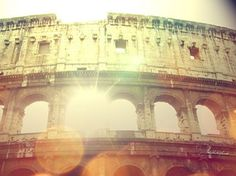 My husband and I traveled through Rome on a scooter for a weekend it was amazing and sexy to get right in the thick of traffic and Get up and personal while you scooter past the most recognizable monument of Ancient Rome -> The Colosseum