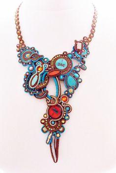 Soutache jewelry. Handmade Jewelry, soutache necklace, beaded jewelry, handmade soutache necklace