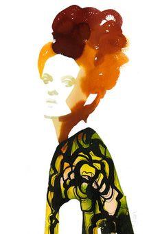 Fashion Illustration - Watercolor print - monstylepin #fashion #illustration #watercolor #aquarel #print