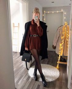 Stylish Clothes For Women, Girls Fashion Clothes, Winter Fashion Outfits, Fall Outfits, Autumn Fashion, Fashion Dresses, Mode Für Teenies, Mode Outfits, Cute Casual Outfits