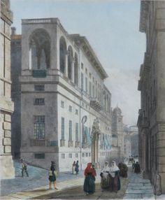 Strada Balbi// prima metà del XIX sec. City Maps, Vintage Photos, Perspective, Zen, Street View, Bella, Travel, Retro, Italia