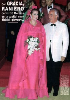Grace de Monaco and Prince Rainier have coverted Monaco into the world capital of glamour ! This hot pink gown , and matching cape, was on display in the Monaco exhibit ! Stunning !
