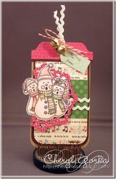 A quick Christmas tag made using a pre-colored digi from Meljen's Designs.      For more projects similar to this, please see my blog at http://shestamps.blogspot.com