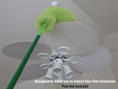 How do you reach way up there for #cleaning? A green fluffy duster! bestduster.com