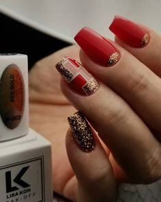 Discover new and inspirational nail art for your short nail designs. Red Summer Nails, Red Nails, Red Nail Designs, Short Nail Designs, Cute Nails, Pretty Nails, Autumn Nails, Winter Nails, Geometric Nail