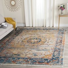 Shop for Safavieh Vintage Persian Blue/ Multi Distressed Polyester Rug (5' x 7' 6). Get free shipping at Overstock.com - Your Online Home Decor Outlet Store! Get 5% in rewards with Club O! - 18655273