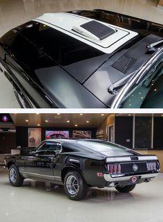 Black & White 1970 Mustang Mach 1 428 CJ