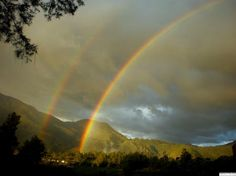 Double Rainbow at Lake Toba, Indonesia  Photo by nonii R — National Geographic Your Shot