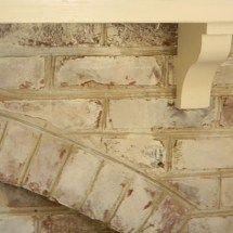 Whitewashed Brick using Annie Sloan Old White chalk paint tutorial on blog www.thepainteddrawer.com