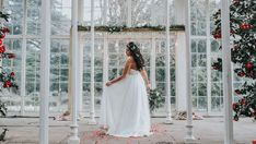 BRIDE WITH RUSTIC LIGHT UP EDISON FRAME