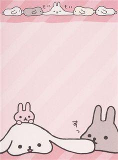 white San-X Mofutans stacked Mochi rabbits mini Note Pad 5