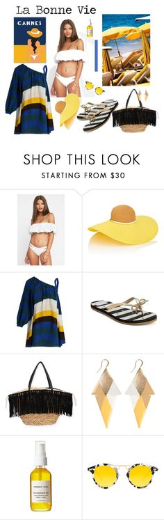 """La Bonne Vie"" by boutiquebrowser ❤ liked on Polyvore featuring A2 by Aerosoles, L*Space, Eugenia Kim, Fendi, Kate Spade, Sun N' Sand, French Girl and Krewe"