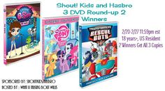 Shout ! Kids and Hasbro 3 DVD Round-up 2 Winners  (ends 2/27) via @BeckyRyanWillis