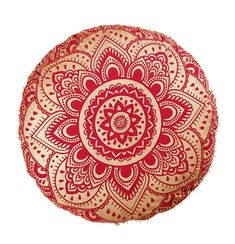 Boho Ottoman Indian Pouf Decorative Throw Pillowcases 32 Boho Pillow Shams Golden Ombre Mandala Floor Cushions Pom Pom Outdoor Cushion Pet Dog Cat Bed Without Filler