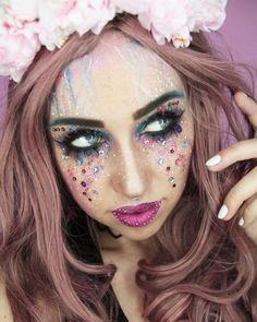 #sfxmakeup #makeup #festivalmakepu #glitter @m.e.y.makeup