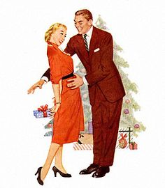 What he wants for Christmas… detail from 1951 Kaywoodie pipe ad.