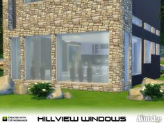 The Sims Resource: Hillview Windows with slots by mutske • Sims 4 Downloads
