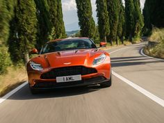 Aston Martin shines in Tuscany - Page 2 - Roadshow Lamborghini Supercar, Bugatti, Supercars, Aston Martin Db11, Ford Mustang Shelby Gt500, Red Wallpaper, Car Wallpapers, Fast Cars, Sport Cars