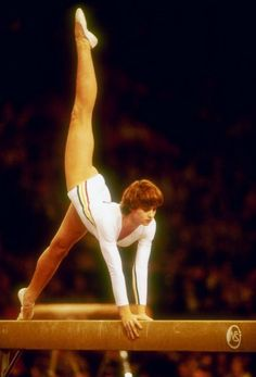 gymnast nadia comaneci | Gymnast Nadia Comaneci competes on beam at the 1978 Worlds