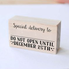 Special delivery stamp, Christmas stamp, Do not open until December 25th, Santa Stamp, christmas DIY, special delivery, christmas rubber