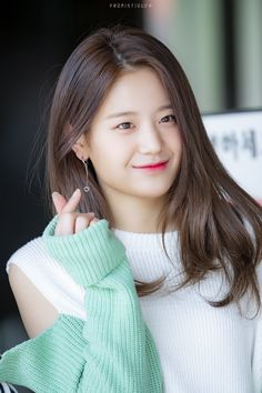 fromis_9 - Gyuri 190505 #Hello_counselor Kpop Girl Groups, Korean Girl Groups, Kpop Girls, Cute Girls, Cool Girl, My Girl, Final Fantasy Girls, Girl Korea, Magical Girl