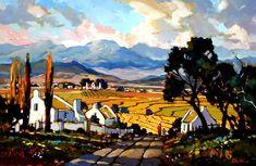 Artwork of Dale Elliot exhibited at Robertson Art Gallery. Original art of more than 60 top South African Artists - Since Landscape Artwork, Landscape Photos, Pintura Exterior, Farm Paintings, Artist Painting, Painting Canvas, South African Artists, Sculpture Art, Art Gallery