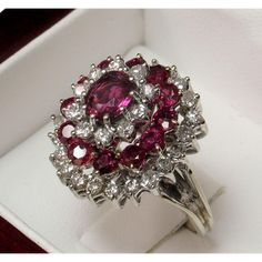 CLEARANCE! 50% OFF! 14k Ruby Diamond Dinner Ring Appraised over $5000!