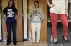 Jeans to Coral Skinnies