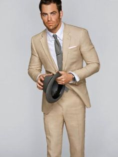 Men's Summer Suits | Man & Men Site - now how do I match this with black bridesmaid dresses???