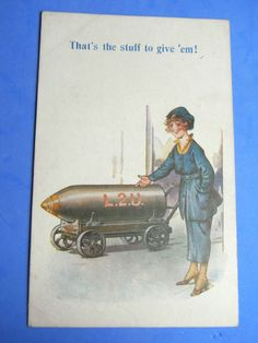 WW1 Bamforth Postcard 1914 18 Suffragette WOMEN MUNITIONS WORKER