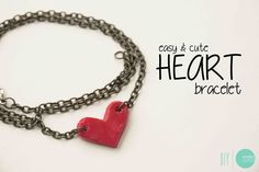 DIY Easy & Cute Heart Bracelet @ mintedstrawberry.blogspot.com
