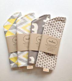 jumbo jellybean contoured burp cloth 100% organic cotton + bamboo by mitanidesigns