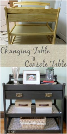 Give an old changing table new life by turning it into a console table!