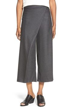 NWT Eileen Fisher Wool Twill Sarong Pants Charcoal Gray XL Extra Large  #EileenFisher #SarongPants