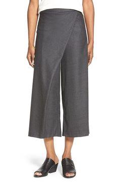NWT Eileen Fisher Wool Twill Sarong Pants Charcoal Gray XL Extra Large  #EileenFisher #SarongPants