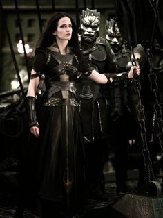 Eva Green in 300: Rise of an Empire is couture and bad-ass. I would wear this any day in New York