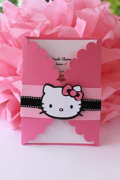 Invitación a fiesta Hello Kitty