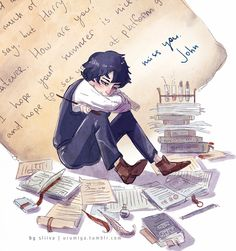 Sherlock got a letter from John during summer holidays, by urumiya (6 april 2014)