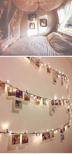 ways to use fairy lights and make your bedroom look magical Gorgeous fairy light inspiration for your home Need Bedroom Decorating Ideas? Go to Gorgeous fairy light inspiration for your home Need Bedroom Decorating Ideas? Go to Deco Design, Design Case, Wall Design, Design Design, Diy Casa, Room Goals, My New Room, House Rooms, Living Rooms