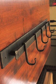 Hand Forged 4 Coat or Pot Rack 18 Inch by ArtisansoftheAnvil, $70.00