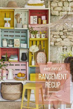 DIY récup : un meuble de rangement en cagettes et palettes  - Marie Claire idées