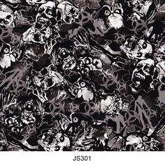 Hydrographics film skull pattern JS301