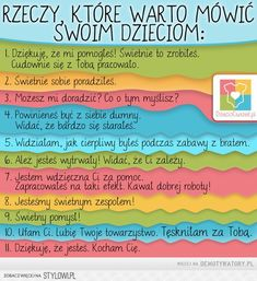 Nigdy za wiele pochwał i wsparcia Study Tips, My Baby Girl, Good Advice, My Children, Kids And Parenting, Kids Learning, Kids Playing, Baby Hacks, Life Lessons