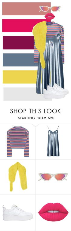 """""""mannequinxo x sesame street vibes 2017 // Keke Palmer"""" by xoflawlessmannequinxo ❤ liked on Polyvore featuring Boohoo, Sonia Rykiel, Le Specs, Windsor Smith and Lime Crime"""